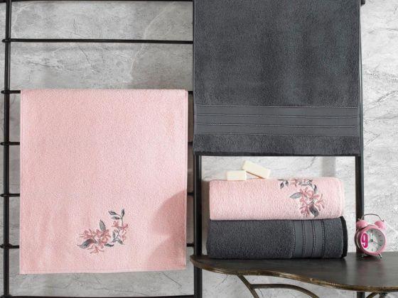 Cottonbox Colorful Hamam Seti Antrasit-Pembe